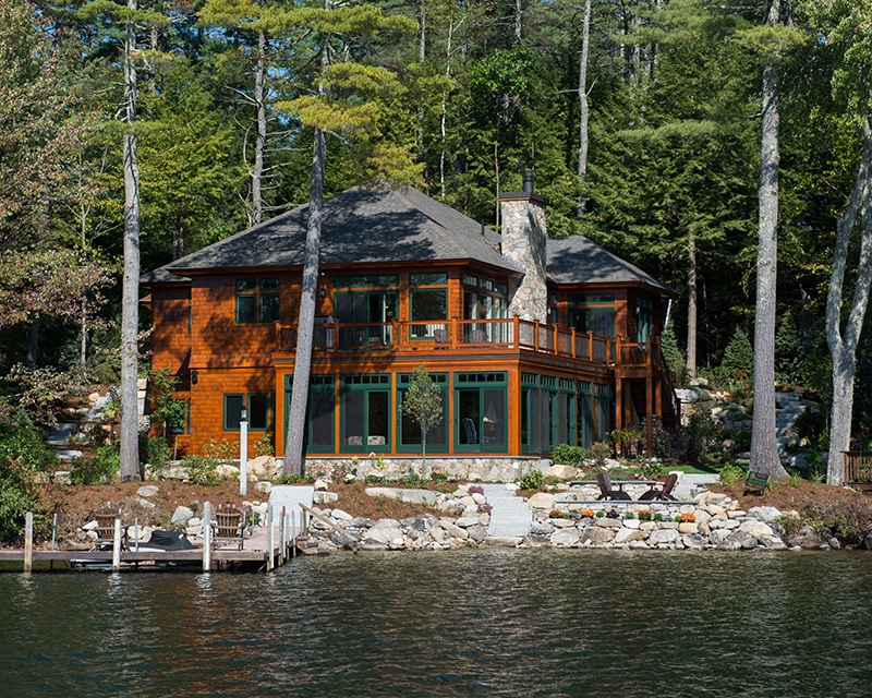 Home on lake