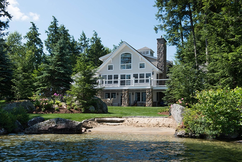 Front of Lake House
