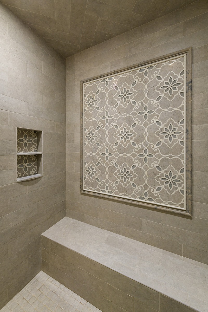 Master Bathroom Stone Shower