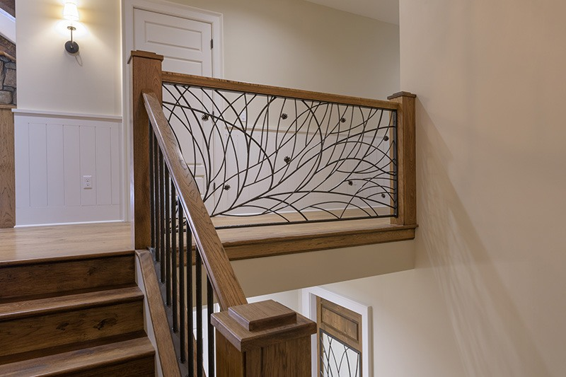 Decorative iron rail