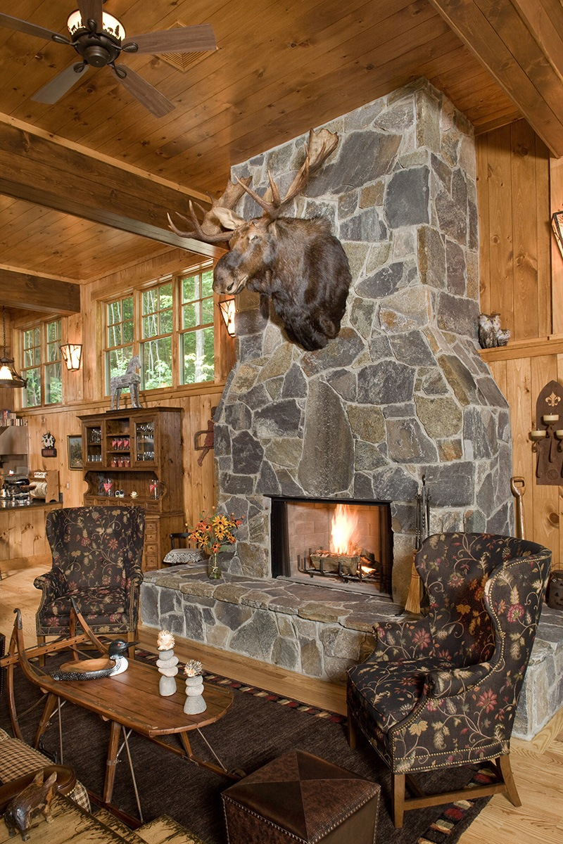 Family Barn Fireplace